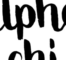 Alpha Chi Flowers Sticker