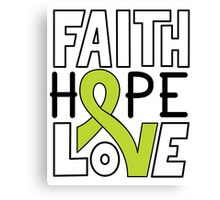 Faith Hope Love - Lymphoma Cancer Awareness Canvas Print