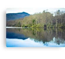 Mountain Lake Reflection Metal Print
