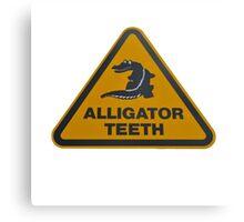 Alligator teeth sign Canvas Print