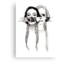 Flesh, Bones, and Braids Canvas Print