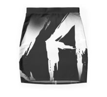 Makayla Decayed Style Graffiti Tag Mini Skirt