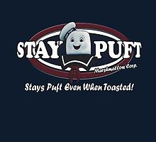 stay puft, logo, ghostbusters, movie, movie t-shirt by LouieThomas
