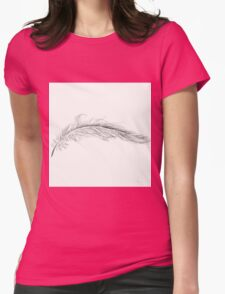Beautiful Feather Drawing Womens Fitted T-Shirt