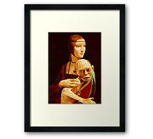 Lady with Gollum Framed Print