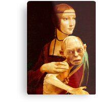 Lady with Gollum Metal Print