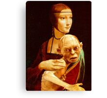 Lady with Gollum Canvas Print