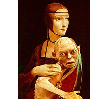 Lady with Gollum Photographic Print