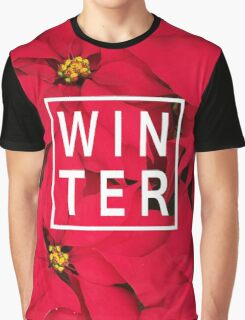 "Beautiful ""Winter"" Typography & Poinsettias Graphic T-Shirt"