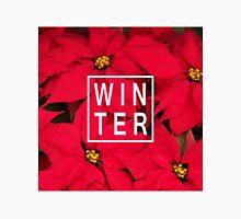 "Beautiful ""Winter"" Typography & Poinsettias Classic T-Shirt"