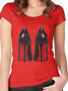 Red Sole Heels - Designer/Fashion/Trendy/Hipster Meme Women's Fitted Scoop T-Shirt