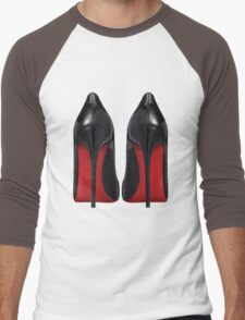 Red Sole Heels - Designer/Fashion/Trendy/Hipster Meme Men's Baseball ¾ T-Shirt