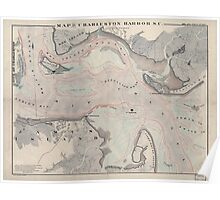 Civil War Maps 0683 Map of Charleston Harbor SC Poster