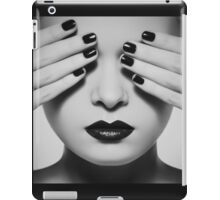 Black and white woman iPad Case/Skin