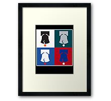 Philly Phour Bells - Liberty Bells for your Favorite Philadelphia Teams! Framed Print