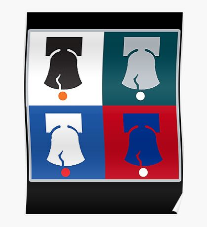 Philly Phour Bells - Liberty Bells for your Favorite Philadelphia Teams! Poster