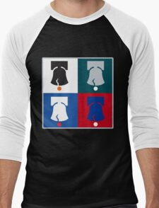 Philly Phour Bells - Liberty Bells for your Favorite Philadelphia Teams! Men's Baseball ¾ T-Shirt