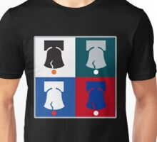 Philly Phour Bells - Liberty Bells for your Favorite Philadelphia Teams! Unisex T-Shirt