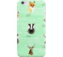 Woodland Animals iPhone Case/Skin