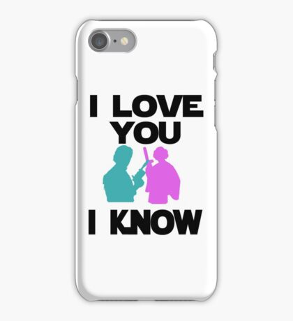 Star Wars Han Solo and Princess Leia 'I love You, I Know' design iPhone Case/Skin