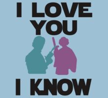 Star Wars Han Solo and Princess Leia 'I love You, I Know' design One Piece - Short Sleeve