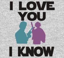 Star Wars Han Solo and Princess Leia 'I love You, I Know' design One Piece - Short Sleeve