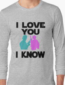Star Wars Han Solo and Princess Leia 'I love You, I Know' design Long Sleeve T-Shirt