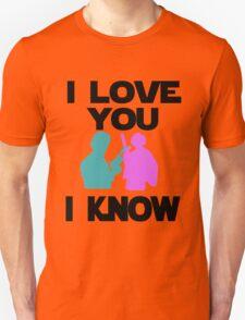 Star Wars Han Solo and Princess Leia 'I love You, I Know' design T-Shirt