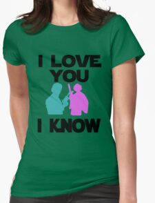 Star Wars Han Solo and Princess Leia 'I love You, I Know' design Womens Fitted T-Shirt