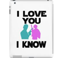 Star Wars Han Solo and Princess Leia 'I love You, I Know' design iPad Case/Skin