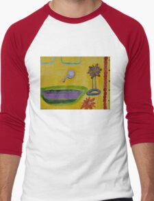 The Yellow Bathroom Men's Baseball ¾ T-Shirt