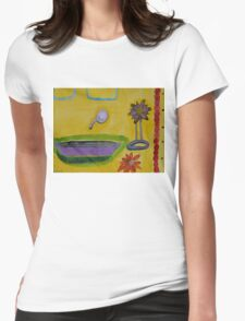 The Yellow Bathroom Womens Fitted T-Shirt