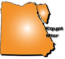 Egyptian map in 3D style Photographic Print