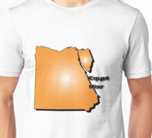 Egyptian map in 3D style Unisex T-Shirt