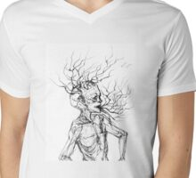 Brain Stem Mens V-Neck T-Shirt