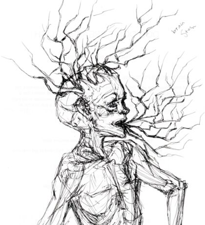 Brain Stem Sticker