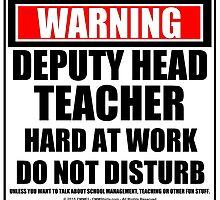 Warning Deputy Head Teacher Hard At Work Do Not Disturb by cmmei