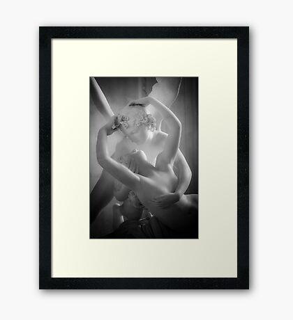 Antonio Canova - Psyche Revived by Cupid's Kiss Framed Print