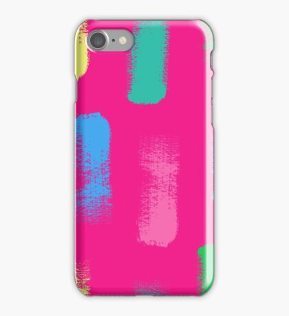 Dry brush hand drawn sketch artsy background iPhone Case/Skin