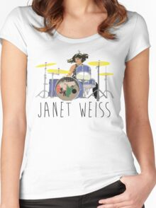janet weiss she is amazin Women's Fitted Scoop T-Shirt