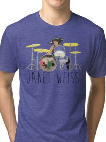 janet weiss she is amazin Tri-blend T-Shirt
