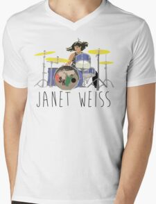 janet weiss she is amazin Mens V-Neck T-Shirt