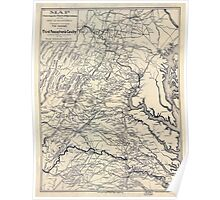 Civil War Maps 0603 Map covering the field of operations of the Army of the Potomac Poster