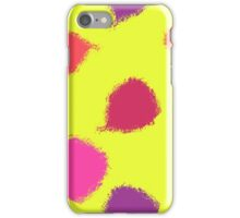 Dry brush hand drawn sketch artsy background neon colours iPhone Case/Skin