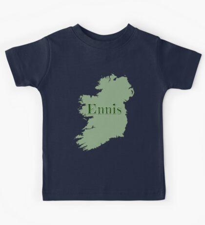 Ennis Ireland with Map of Ireland Kids Tee