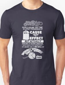 Doctor Who Wibbly Wobbly Quote T-Shirt