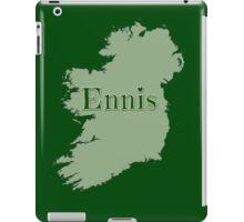 Ennis Ireland with Map of Ireland iPad Case/Skin