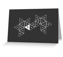 Unrolled D20 Greeting Card
