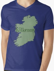 Kilkenny Ireland with Map of Ireland Mens V-Neck T-Shirt