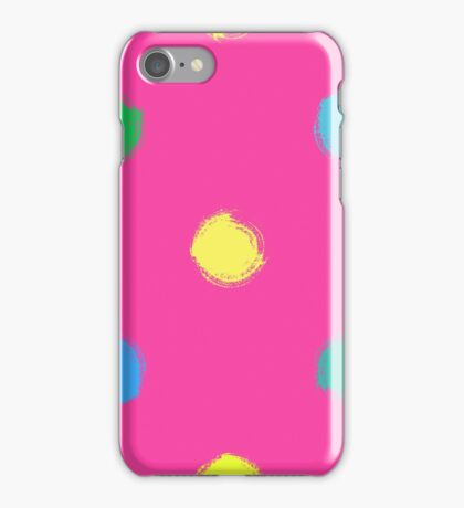 Dry brush hand drawn sketch artsy background polka dot iPhone Case/Skin